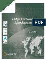 Estrategias de Internacionalización. Aspectos Fiscales a Considerar - Garrigues
