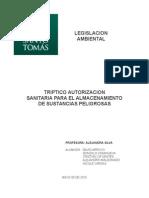 TRIPTICO LEGISLACION