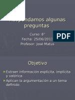 Actividad argumentativa 8°