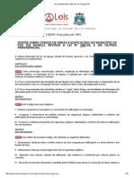 Lei Complementar 3 1991 de Foz Do Iguaçu PR