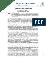 Boletín Ministerio de Defensa