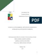 Acceso a La Justicia Ambienta Participación Ciudadana en El Sistema de Evaluación de Impacto Ambiental