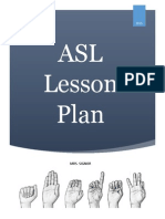 asl lesson plan pdf
