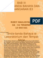 Bab 3 Tanda-tanda Bahaya & Penanganan B3 (Rizky Maulidiyani 2A S1-Terapan)