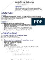 Electronic News Gathering Course Outline