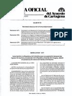 Formato Impreso de la Resolucion Andina del Valor