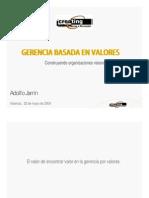 Gerencia Basada en Valores Jarrin 25 04 2014