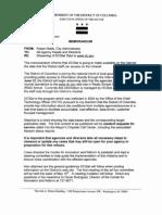 City of Washington D.C. Mayors Office Data Feed Publication Memo
