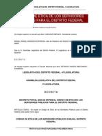 Codigo de Etica Para Los Servidore Publicos Del DF Marzo2015