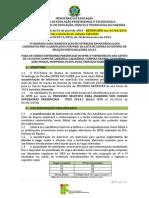 EDITAL Nb0 130-2014_Manifestacao de Interesse_3a CHAMADA LISTA de ESPERA_2014.1 - RETIFICADO Com a Inclusao de Cabedelo