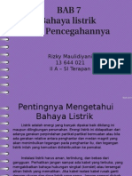Bab 7 Bahaya Listrik Dan Pencegahannya (Rizky Maulidiyani 2A-SI Terapan)