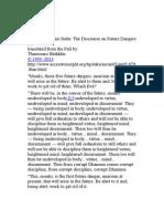 Anagata-bhayani Sutta - The Discourse on Future Dangers (3)