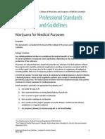 PSG Marijuana for Medical Purposes