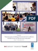 """Informe 2012 - 2014. """"Proyecto Prevención de conflictos sociales en el uso de recursos naturales"""""""
