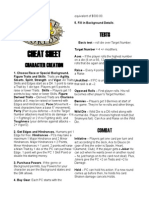 SW Cheat Sheet Revised