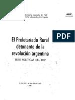 El proletariado rural detonante de la revolución argentina