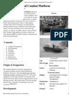 Armata Universal Combat Platform - Wikipedia, The Free Encyclopedia