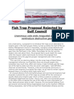 Fish Trap Proposal Rejected by Gulf Council