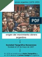 Movimiento Obrero Argentino (1857-1955)