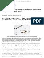 Nikah Mut'Ah Atau Kawin Kontrak _ Setetes Hidayah