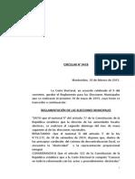 Reglamento Elección Municipal 2015