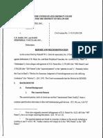 W.L. Gore & Associates, Inc. v. C.R. Bard Inc. et al., C.A. No. 11-515-LPS-CJB (D. Del. Apr.  7, 2015)