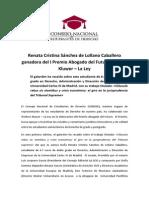 V. Nota de Prensa CONEDE Mayo 2015