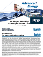 Peabody Energy - Jp Morgan Submitted