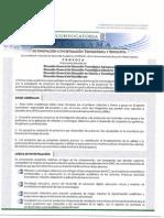 Convocatoria 2015 COSDAC
