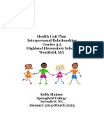 Health Unit Plan 3-5 Interpersonal Relationships