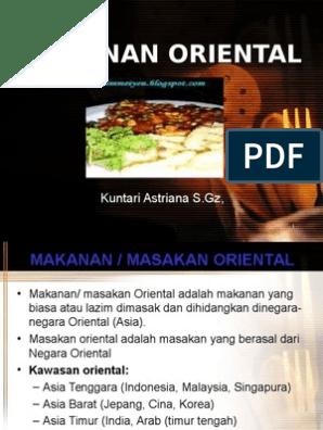 Makanan Oriental Asia Tenggara Kuliner Kesehatan