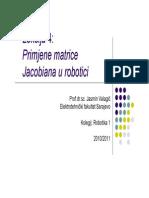 Primjena matrice Jacobiana u robotici