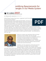Sri Lanka Identifying Requirements for Structural Changes in Our Media System
