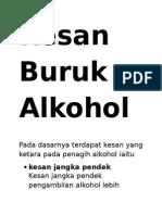Kesan Buruk Alkohol