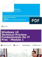 Windows 10 For IT Pros - Module 1