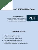 Clase 1 Psicopatología, Terminología Básica, Historia, Modelos