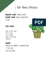 Investigating Plant Mineral Deficiencies