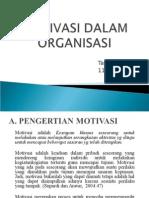 Motivasi Dalam Organisasi