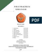 Laporan Praktikum Kimia Dasar (Kelompok 1)