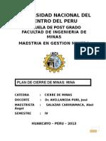 Cierre de Minas