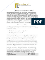 Private Policing- Research Questions and Findings