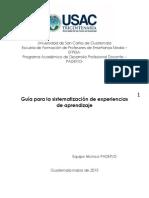 Guía Sistematización Experiencias 2015 Etapa 1 (1)