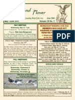 Upland Plover - May-June 2015