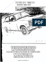 Workshop Manual Datsun 1200 1969-73