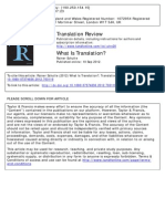 What is Translation - Rainer Schulte (Translation Review 83, 1-4)