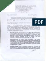 Notice of Initiation HRC