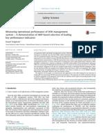 [Doi 10.1016%2Fj.ssci.2014.11.018] D. Podgórski -- Measuring Operational Performance of OSH Management System – a Demonstration of AHP-based Selection of Leading Key Performance