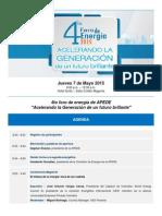 IV Foro Energia 2015 Agenda