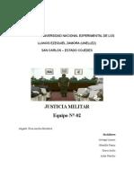 Trabajo de Justicia Militar