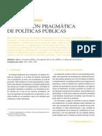Evaluacion Pragmatica de Políticas Públicas